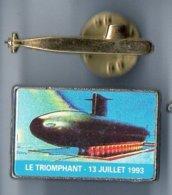Lot Pin's Du Sous-marin Nucléaire Lanceur D'engins Le Triomphant - Marine Nationale - Pichard - SNLE - Militaria