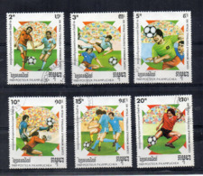 Kampuchea - 1989 - Calcio - Coppa Del Mondo Italia 90 - 6 Valori - Usati - (FDC17455) - Kampuchea