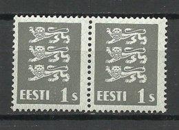 ESTLAND Estonia 1940 Michel 164 W In Pair MNH - Estland