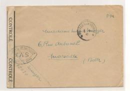 FRANCE 1945 F.M. CARTE POSTALE AUX ARMÉES POUR MARSEILLE - Marcophilie (Lettres)