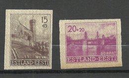 Estland Estonia 1941 German Occupation Michel 4 - 5 U (*) - Estonia