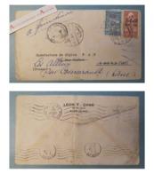SYRIE 1946 Enveloppe ALEP > Paris > Les Alleux Courcerault (Orne) - Cachets Damas - Timbre Fiscal - Syria - Léon T Chad - Siria