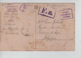 PR7416/ CP Fantaisie PDG-POW Camp De Holzminden Braunschweig 1917 Diverses Censures > Nandrin C.d'arrivée - WW I