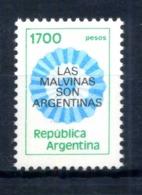 1982 ARGENTINA N.1288 1700p. FLUORESCENTE - Argentinien