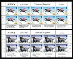 1997 Jersey EUROPA CEPT EUROPE 10 Serie Di 2v. MNH** In Minifoglio Minisheet - Europa-CEPT
