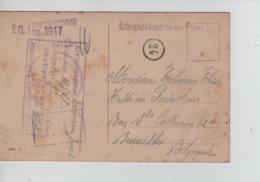 PR7417/ CP Scène Bucolique PDG-POW Camp De Paderborn 1917 Diverses Censures > Bruxelles - WW I