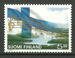 Finland 1998 150 Years Of Finnish National Anthem, Flag   Mi  1434  MNH(**) - Cartas