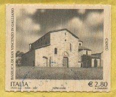 2007 - ITALIA / ITALY - BASILICA SAN VINCENZO IN GALLIANO A CANTU' / STAMPATO SU LAMINA DI LEGNO. USATO / USED. - 1948-.... Repubbliche