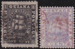 British Guiana     .    SG   .   2 Stamps   .      O    .   Cancelled    .   /   .   Gebruikt - Guyana Britannica (...-1966)