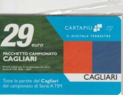 CARTA PIU' LA7 -NUOVA-NON ATTIVA-CAGLIARI (PK2893 - Italie