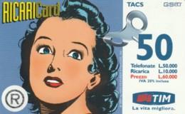 RICARICA- TIM 8 APR2000 (PK2729 - [2] Sim Cards, Prepaid & Refills