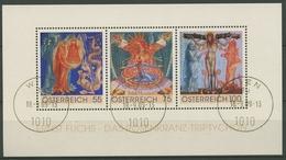 Österreich 2009 Gemälde Rosenkranz-Triptychon Block 54 Gestempelt (C93731) - Blocks & Kleinbögen