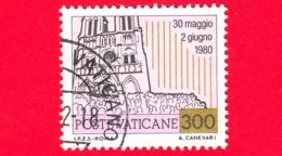 VATICANO - 1981 - Usato - Viaggi Di Giovanni Paolo II Nel 1980 - 300 L. • Viaggio In Francia - Vatican