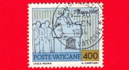 VATICANO - 1981 - Usato - Viaggi Di Giovanni Paolo II Nel 1980 - 400 L. • Discorso All'UNESCO - Vatican