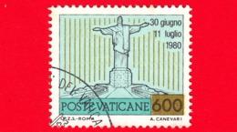 VATICANO - 1981 - Usato - Viaggi Di Giovanni Paolo II Nel 1980 - 600 L. • Viaggio In Brasile - Vatican