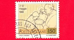 VATICANO - 1981 - Usato - Viaggi Di Giovanni Paolo II Nel 1980 - 150 L. • Il Battesimo - Vatican