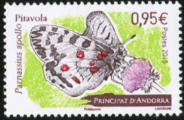 ANDORRA French 2015 Apollo Butterfly Insects Animals Fauna MNH - Butterflies