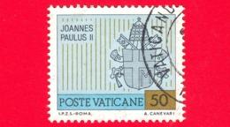 VATICANO - 1981 - Usato - Viaggi Di Giovanni Paolo II Nel 1980 - 50 L. • Stemma Papale - Vatican