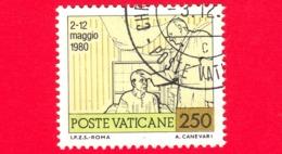 VATICANO  - Usato - 1981 - Viaggi Di Giovanni Paolo II Nel 1980 - 250 L. • Visita Agli Infermi - Vatican