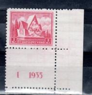 1935 Legion Tchecoslovaque Devant Arras Y 296 ** Mi 336 ** Planche 1/1935 - Neufs