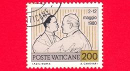 VATICANO - Usato - 1981 - Viaggi Di Giovanni Paolo II Nel 1980 - 200 L. Il Papa Con L'episcopato Africano - Vatican
