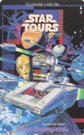 Télécarte Japon / 110-92220 - DISNEY - STAR TOURS ** George Lucas ** Japan Cinema Movie Film Phonecard - Disney