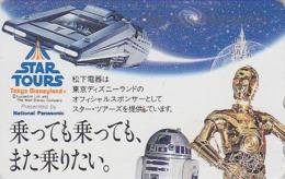 Télécarte Japon / 330-56758 - DISNEY - STAR TOURS ** George Lucas ** Japan Cinema Movie Film Phonecard - Disney