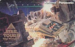 Télécarte Japon / 110-011 - DISNEY - STAR TOURS ** George Lucas ** DISNEYLAND  - Japan Cinema Movie Film Phonecard - Disney