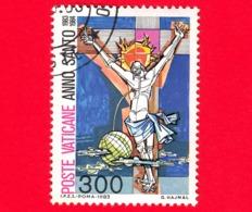 VATICANO - 1983 - Usato - Anno Santo Straordinario - 300 L. • Cristo Crocefisso - Vatican