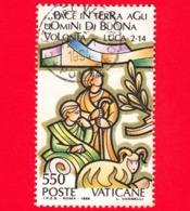 VATICANO - Usato - 1988 - Natale - 550 L. • Natività - Vatican