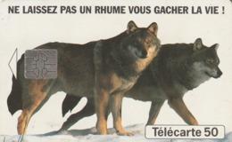 FRANCIA. Wolves - Lobos. Humex Fournier. 0446A. (249). - Tarjetas Telefónicas