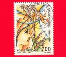 VATICANO  - Usato - 1990 - 450º Anniversario Della Morte Di S.Angela Merici - 700 L. • La Mistica Scala - Vatican