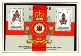 GIBRALTAR  -  1989 Gibraltar Regiment Miniature Sheet Unmounted/Never Hinged Mint - Gibraltar