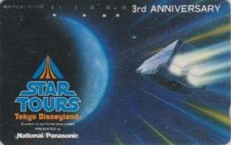Télécarte Japon / 330-41677 - DISNEY - STAR TOURS ** George Lucas ** DISNEYLAND  - Japan Cinema Movie Film Phonecard - Disney
