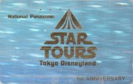 Télécarte Japon / 110-91734 - DISNEY - HOLO 3 D - STAR TOURS ** George Lucas ** - Japan Cinema Movie Film Phonecard - Disney
