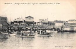 CPA Marseille - Calanque De La Vieille Chapelle - Départ Du Concours De Pêche - Quartiers Sud, Mazargues, Bonneveine, Pointe Rouge, Calanques