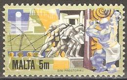 Malte - 1981 - Constructions Mégalithiques - YT 624 Oblitéré - Malta
