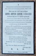 Joannes Baptista Aloysius Schalckx - Soldaat Bij Het 7ste Linieregiment - Lichtaert 16/08/1884 - ..voor 't Vaderland.. - Décès