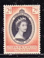 Turks And Caicos  1953 Incoronazione Nuovo MLH - Grossbritannien (alte Kolonien Und Herrschaften)