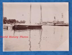 Photo Ancienne - THONON Les BAINS - Entrée Au Port D'un Bateau De Genêve - 1905 - Lac Léman Lausanne Suisse - Bateaux
