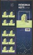 """ISLAND /ISLANDIA / ICELAND /ISLANDE - EUROPA 2009- TEMA """"ASTRONOMIA"""" -DOS CARNETS Con  HOJAS BLOQUE De 10 V.  ADHESIVOS - Europa-CEPT"""