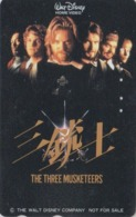 TC Japon / 110-011 - DISNEY - THE THREE MUSKETEERS ** HOME VIDEO ** NOT FOR SALE Japan Cinema Movie Film Phonecard / NFS - Disney