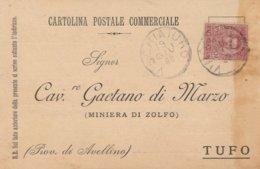 Vinchiaturo. 1899. Annullo Grande Cerchio VINCHIATURO, Su Cartolina Postale Commerciale - 1878-00 Umberto I