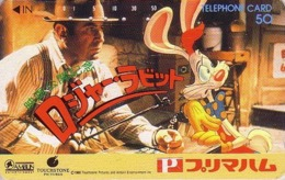 Télécarte Japon / 110-59608 - DISNEY Touchstone - WHO FRAMED ROGER RABBIT ? - Japan Movie Phonecard - Disney