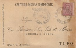 Acquaviva Delle Fonti. 1900. Annullo Guller ACQUAVIVA DELLE FONTI   (BARI), Su Cartolina Postale Commerciale - Storia Postale