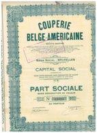 Titre Ancien - Couperie Belge-Américaine - Société Anonyme - Titre De 1927 - N° 13324 - Textiel