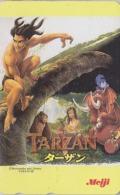 Télécarte NEUVE Japon / 110-016 - DISNEY - Film TARZAN / MEIJI - ELEPHANT SINGE Monkey - Japan MINT Movie Phonecard - Disney