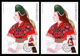 SALE! Estonia Maxicard 2012 Mih. 729/30 Folk Costumes (2 Maxicards) (canc. In Tartu) - Estland