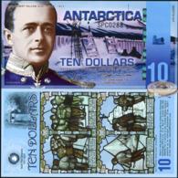 ANTARCTICA. $10. 14/12/2012. POLYMER - Bankbiljetten