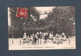 95 - ERMONT - COURS De Madame ANDRE-ROQUES  - CARTE VOYAGEE EN 1907  J. DAVID Phot. Levallois - Ermont